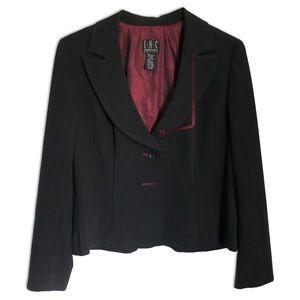 🌵 INC Woman's Black Blazer /w Red Trim Size 14P